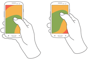 The 'thumb zone' for one-handed phone use